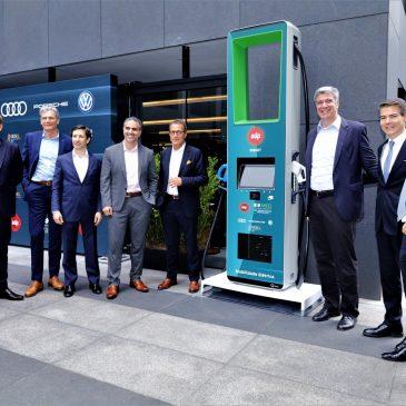 Audi, Porsche e Volkswagen fazem parceria para instalar 30 pontos de recarga de carros elétricos em São Paulo